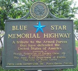 Blue Star Memorial Marker